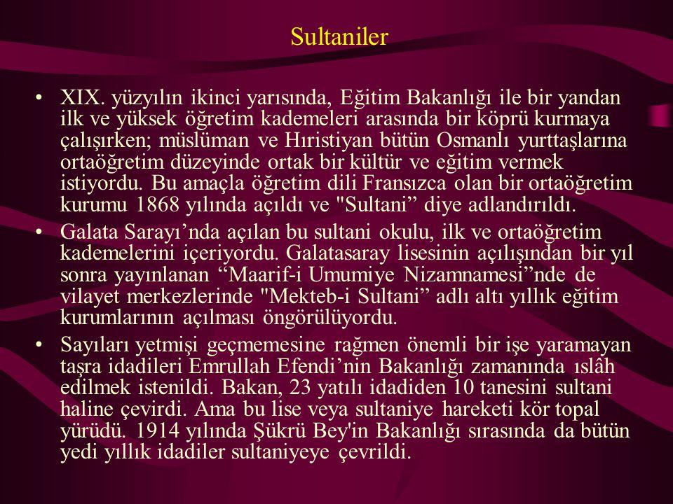 Sultaniler