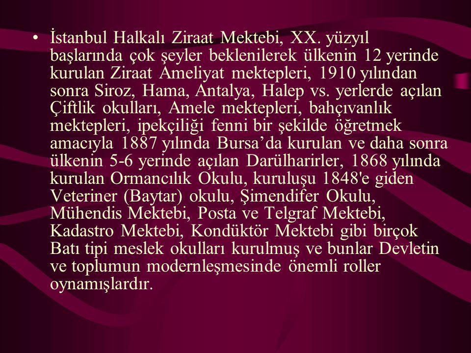 İstanbul Halkalı Ziraat Mektebi, XX