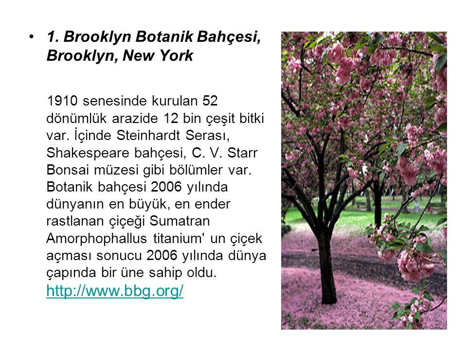 1. Brooklyn Botanik Bahçesi, Brooklyn, New York