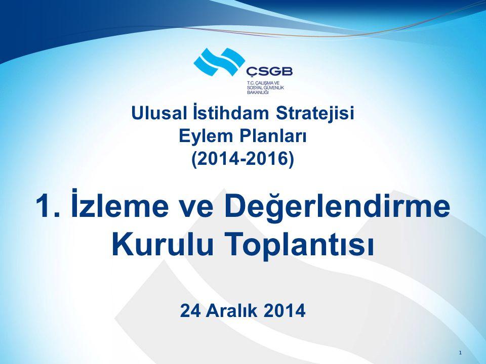 Ulusal İstihdam Stratejisi Eylem Planları (2014-2016) 1