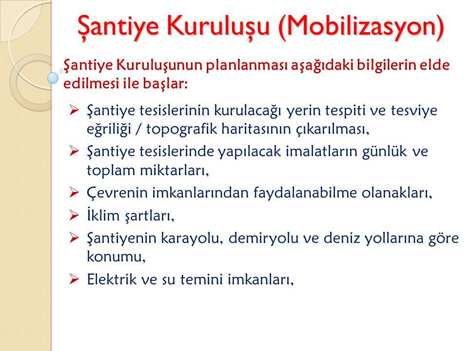 Şantiye Kuruluşu (Mobilizasyon)