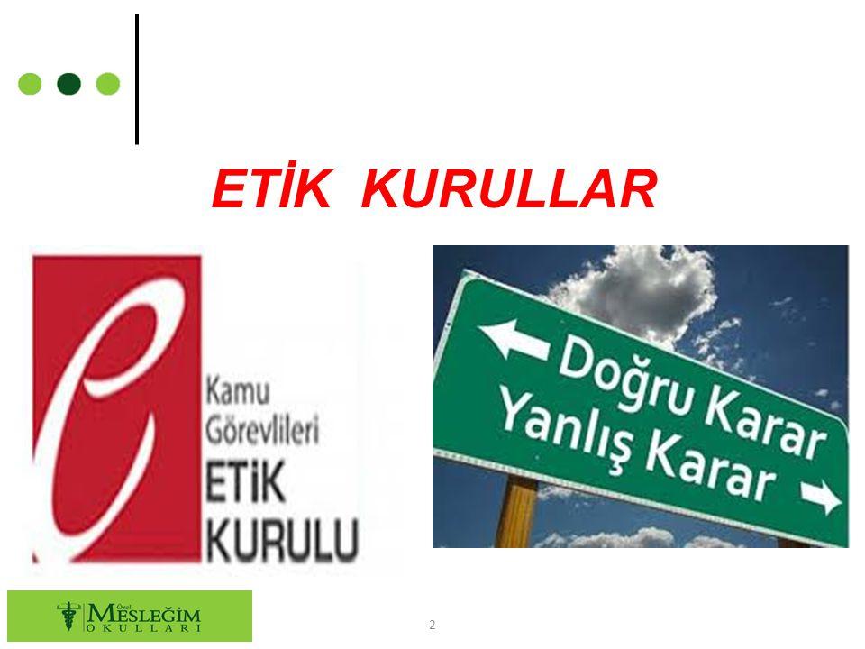 ETİK KURULLAR