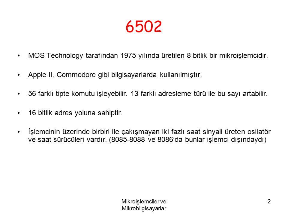 Mikroişlemciler ve Mikrobilgisayarlar