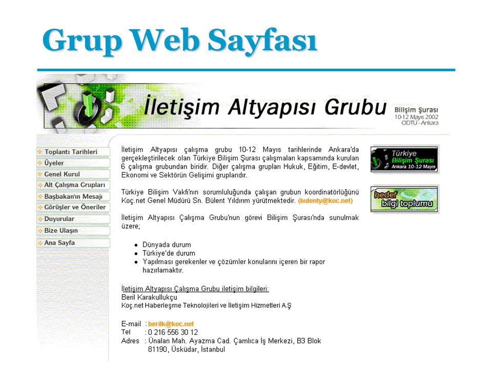 Grup Web Sayfası