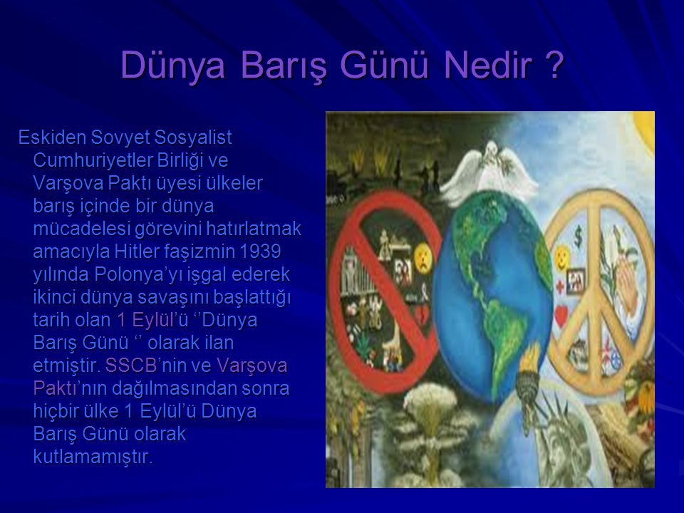 Dünya Barış Günü Nedir