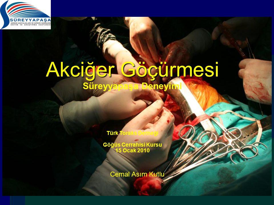 Türk Toraks Derneği Göğüs Cerrahisi Kursu 15 Ocak 2010