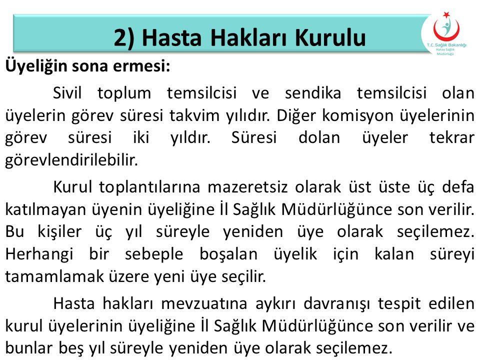 2) Hasta Hakları Kurulu
