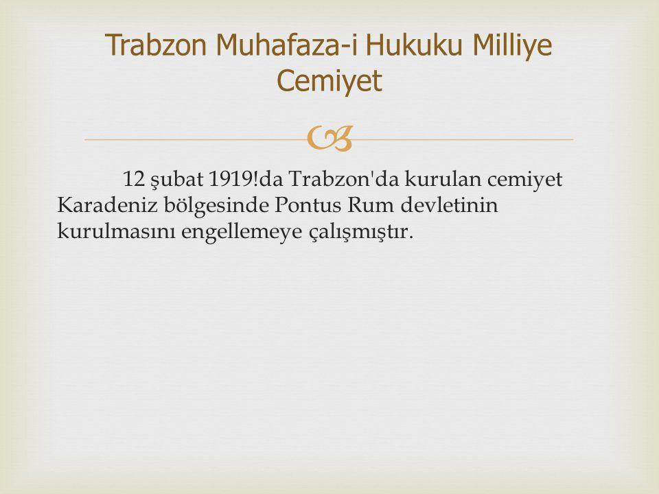 Trabzon Muhafaza-i Hukuku Milliye Cemiyet