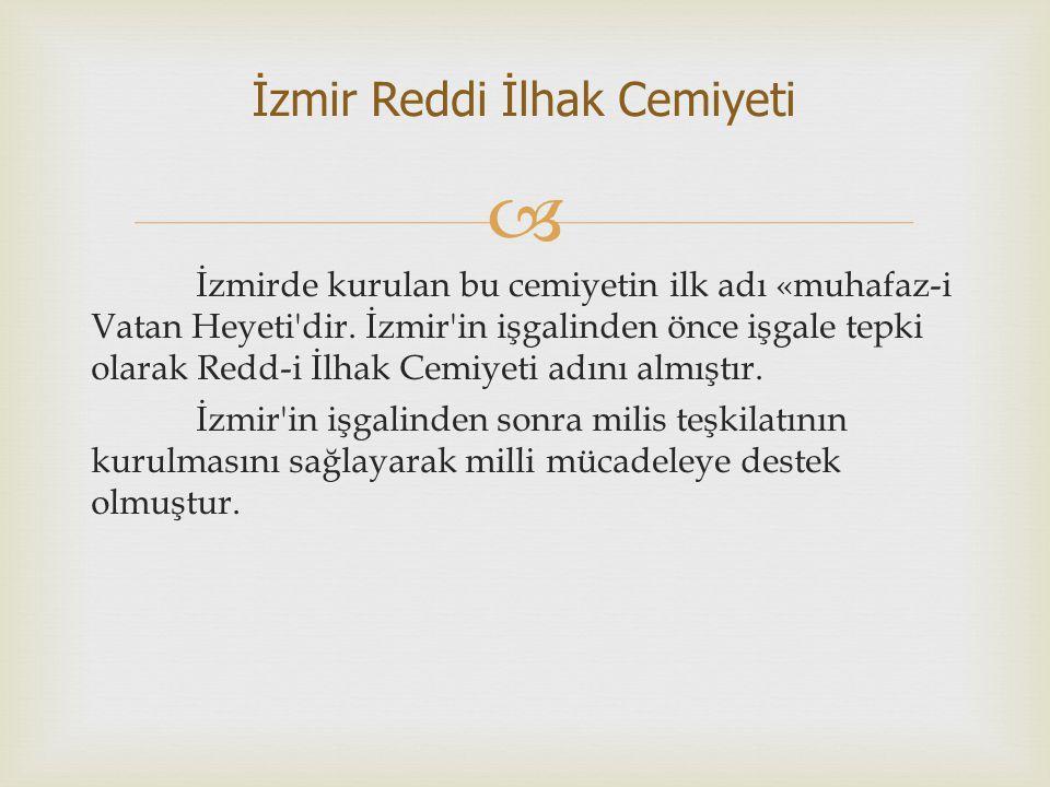 İzmir Reddi İlhak Cemiyeti