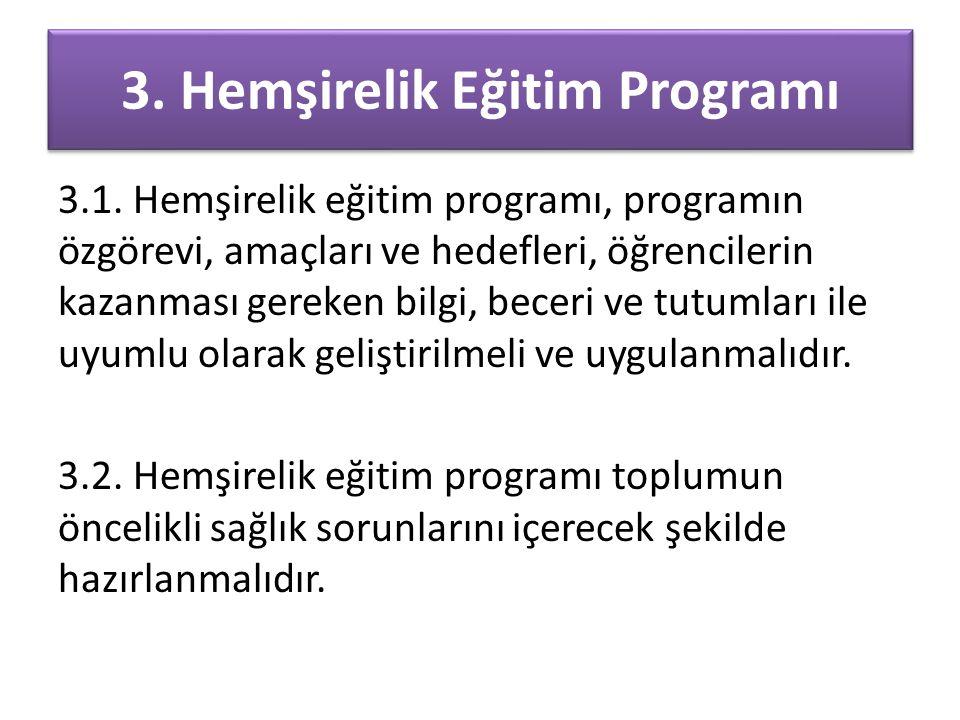 3. Hemşirelik Eğitim Programı