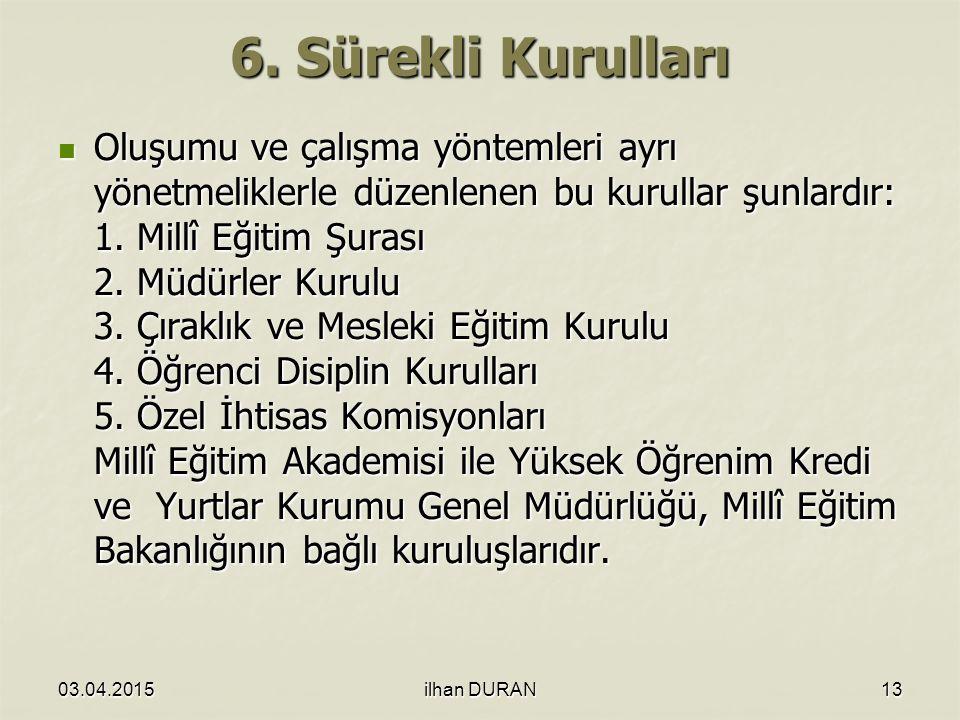 6. Sürekli Kurulları