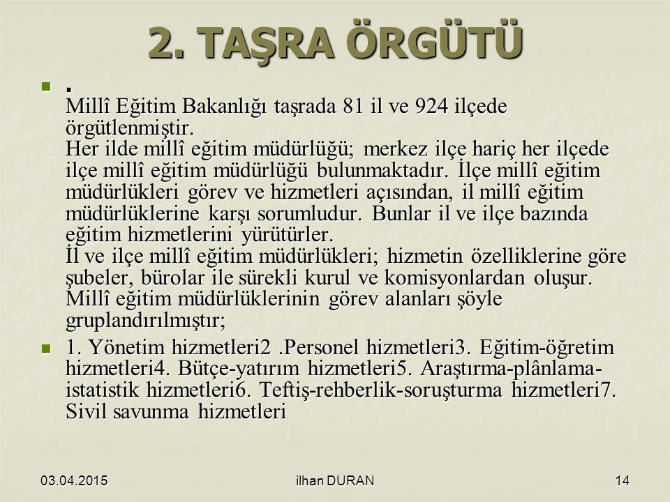 2. TAŞRA ÖRGÜTÜ