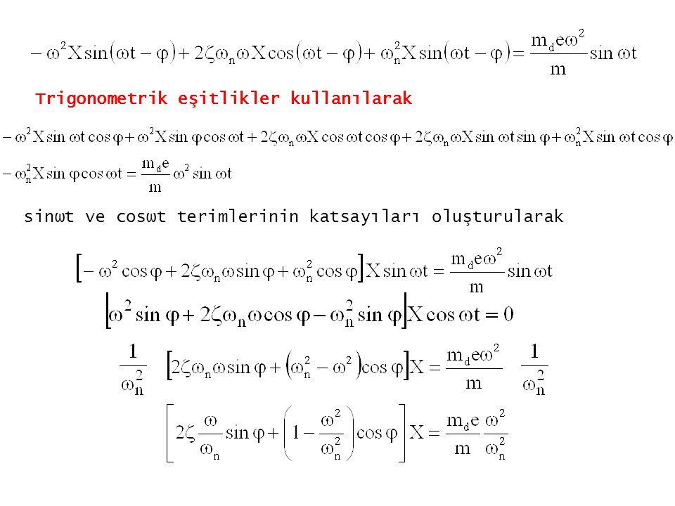 Trigonometrik eşitlikler kullanılarak
