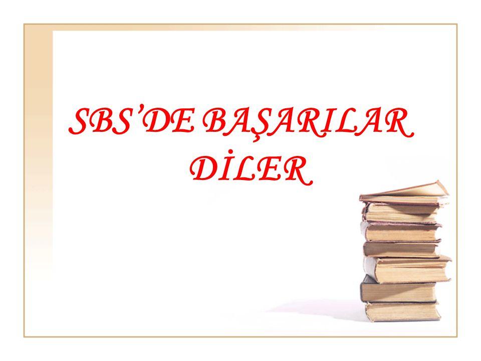 SBS'DE BAŞARILAR DİLER