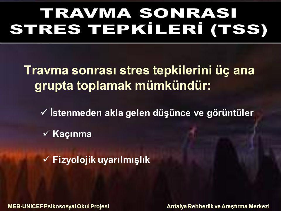 TRAVMA SONRASI STRES TEPKİLERİ (TSS)