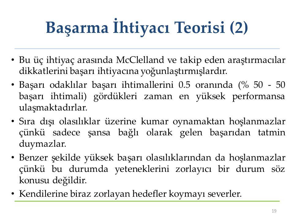 Başarma İhtiyacı Teorisi (2)