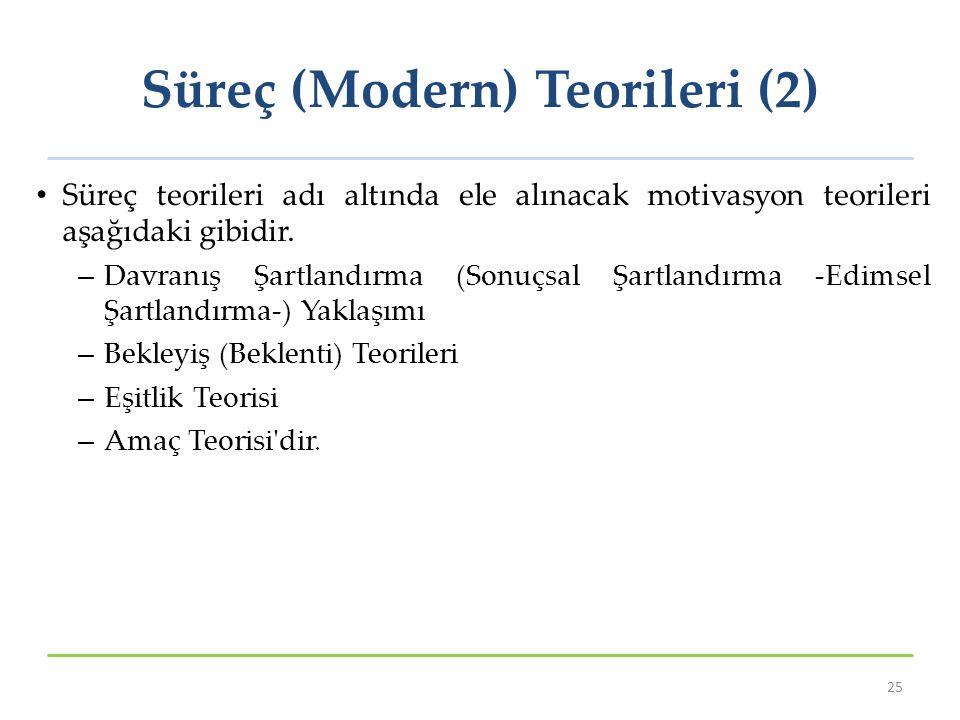 Süreç (Modern) Teorileri (2)