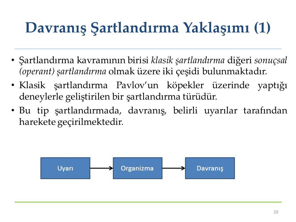 Davranış Şartlandırma Yaklaşımı (1)