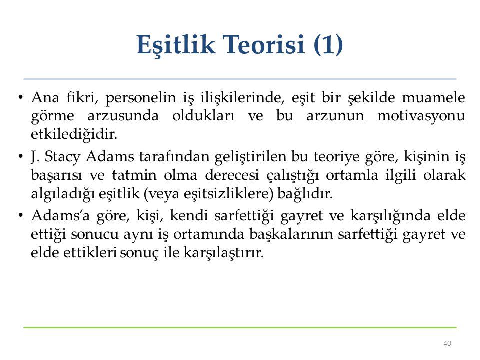 Eşitlik Teorisi (1)