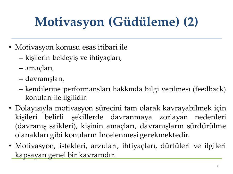 Motivasyon (Güdüleme) (2)
