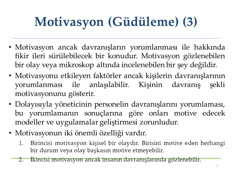 Motivasyon (Güdüleme) (3)
