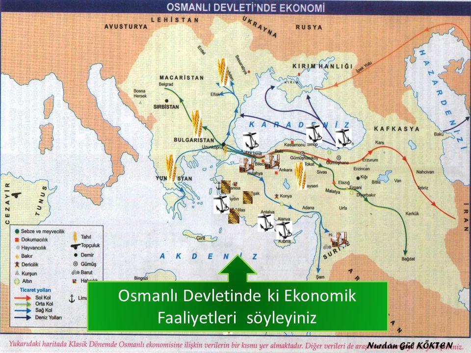 Osmanlı Devletinde ki Ekonomik Faaliyetleri söyleyiniz