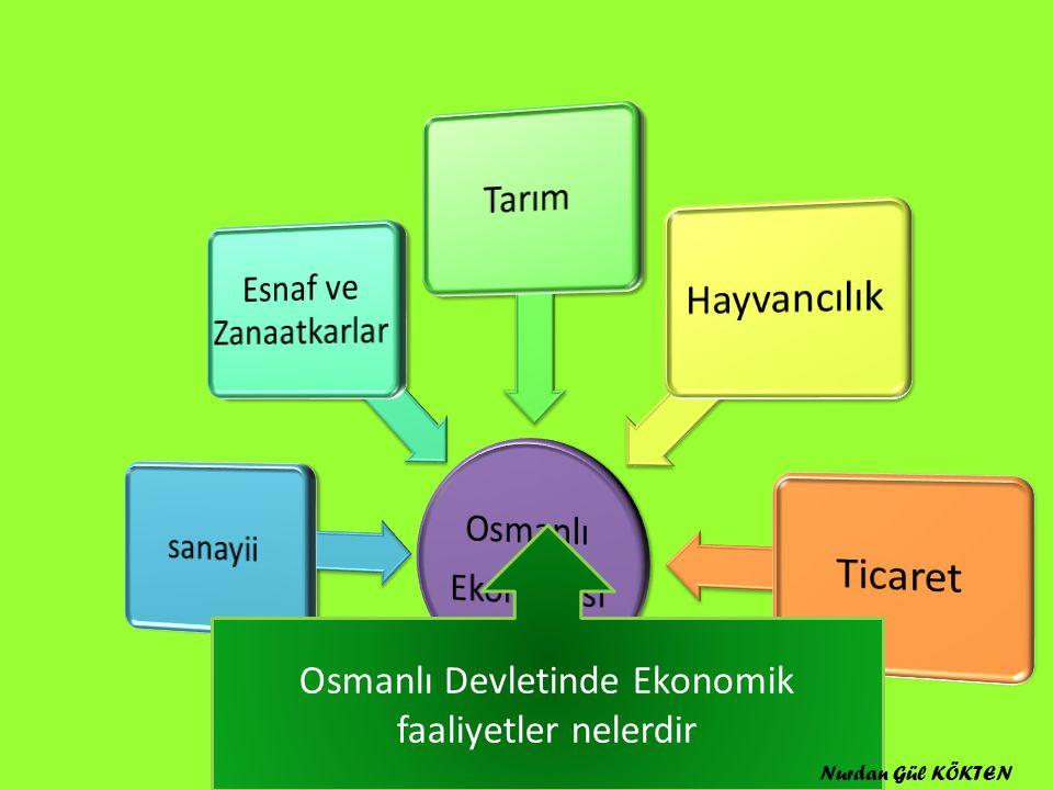 Osmanlı Devletinde Ekonomik faaliyetler nelerdir