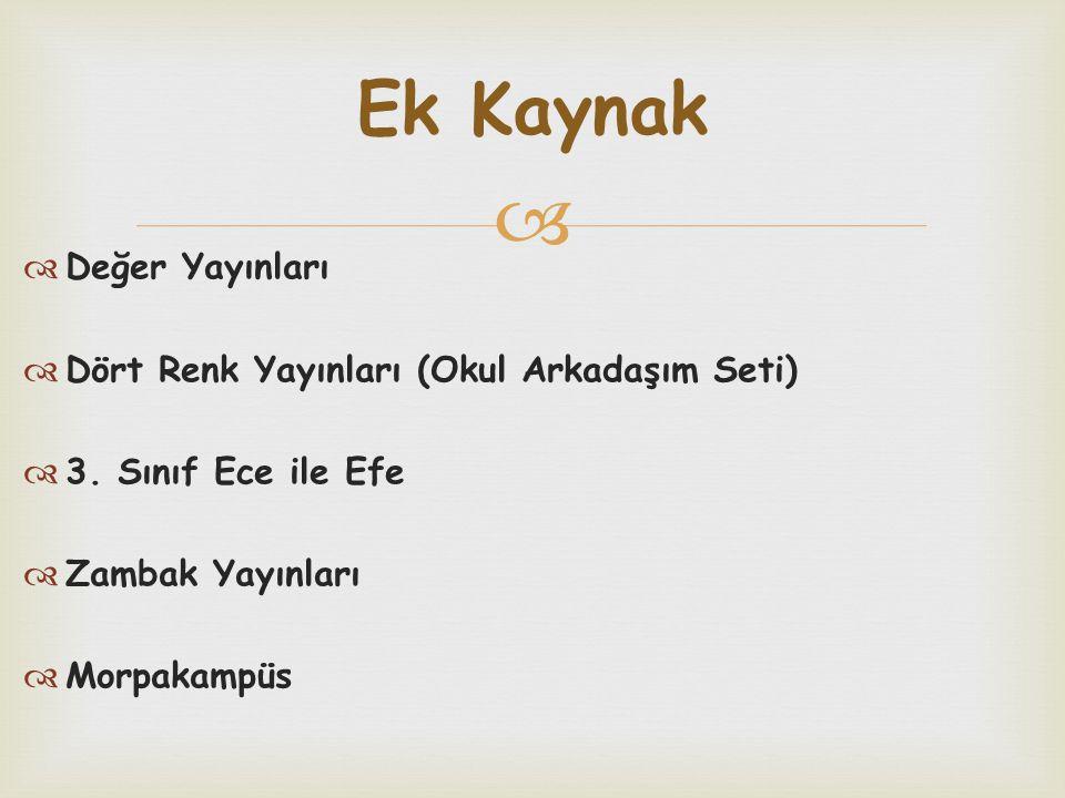 Ek Kaynak Değer Yayınları Dört Renk Yayınları (Okul Arkadaşım Seti)