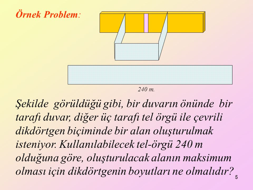 Örnek Problem: 240 m.