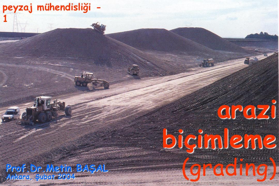 arazi biçimleme (grading)