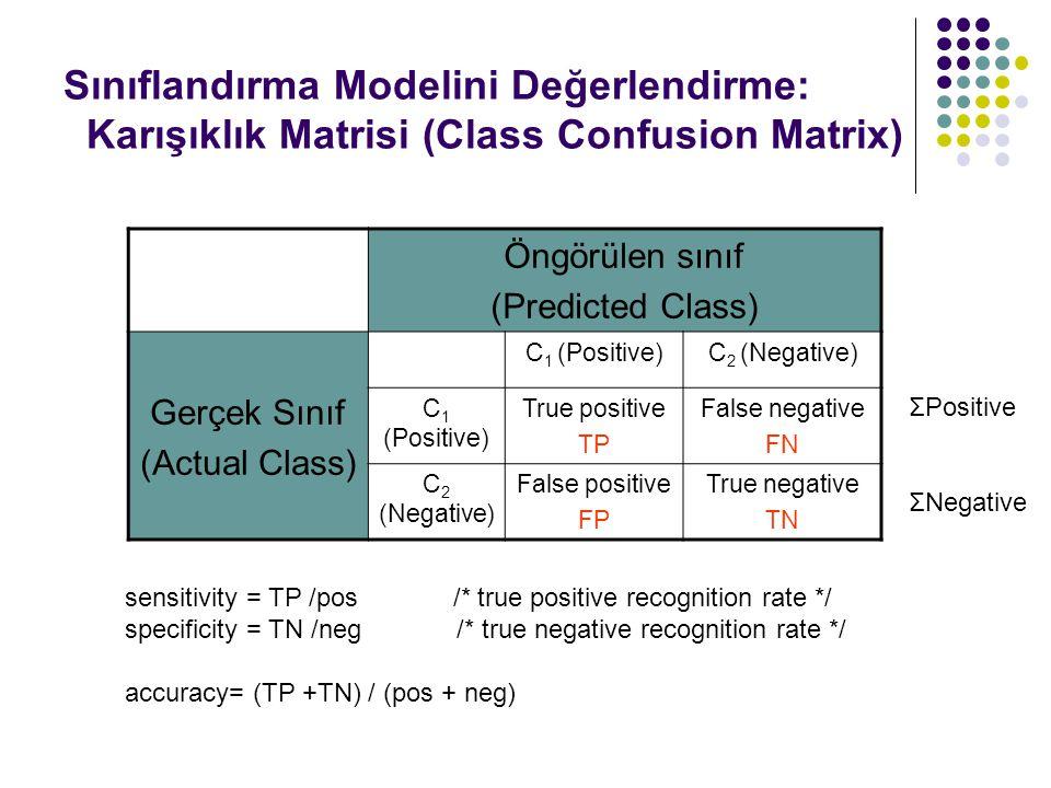 Sınıflandırma Modelini Değerlendirme: Karışıklık Matrisi (Class Confusion Matrix)