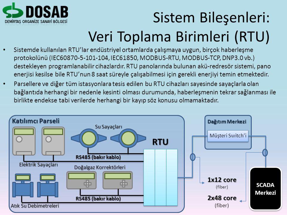 Sistem Bileşenleri: Veri Toplama Birimleri (RTU)