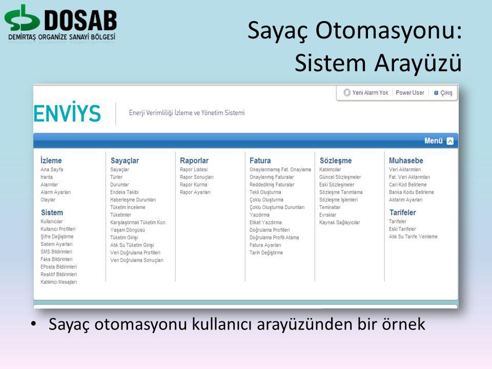 Sayaç Otomasyonu: Sistem Arayüzü