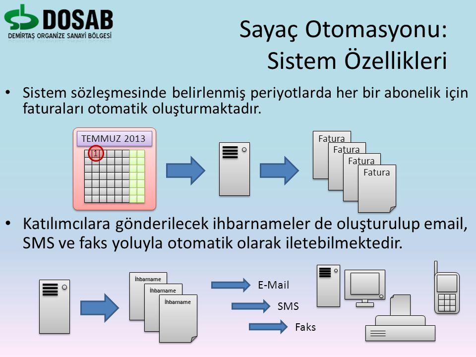 Sayaç Otomasyonu: Sistem Özellikleri