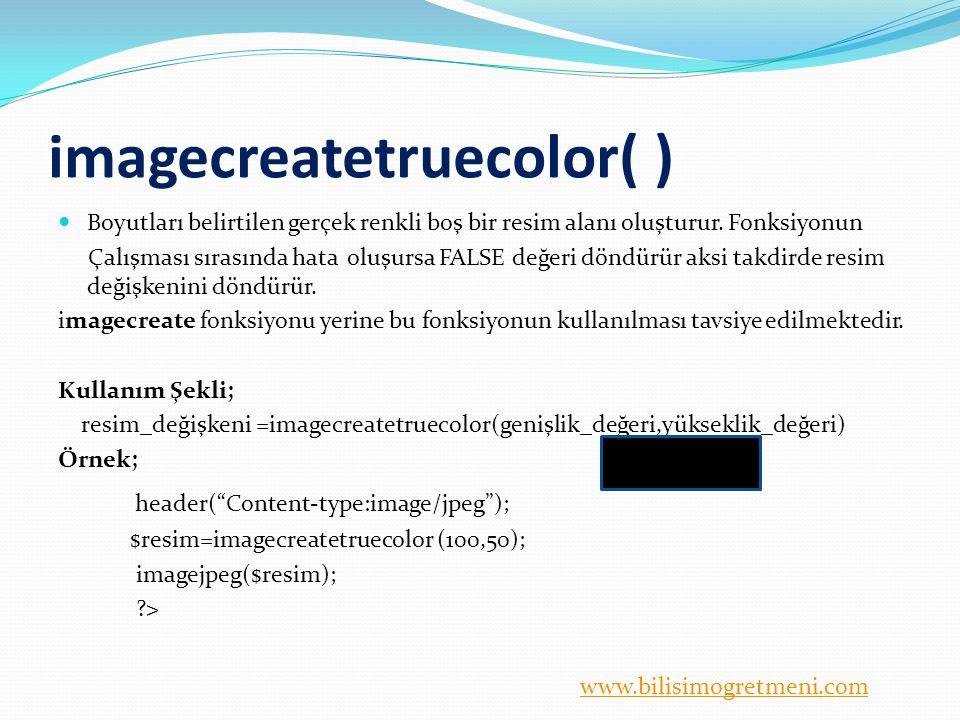 imagecreatetruecolor( )