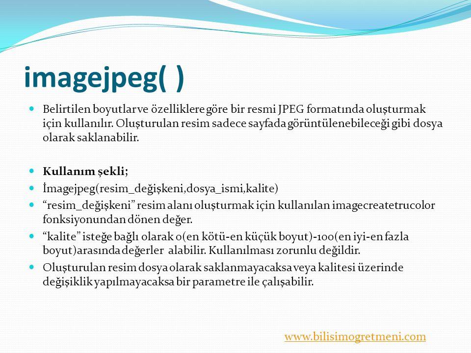 imagejpeg( )