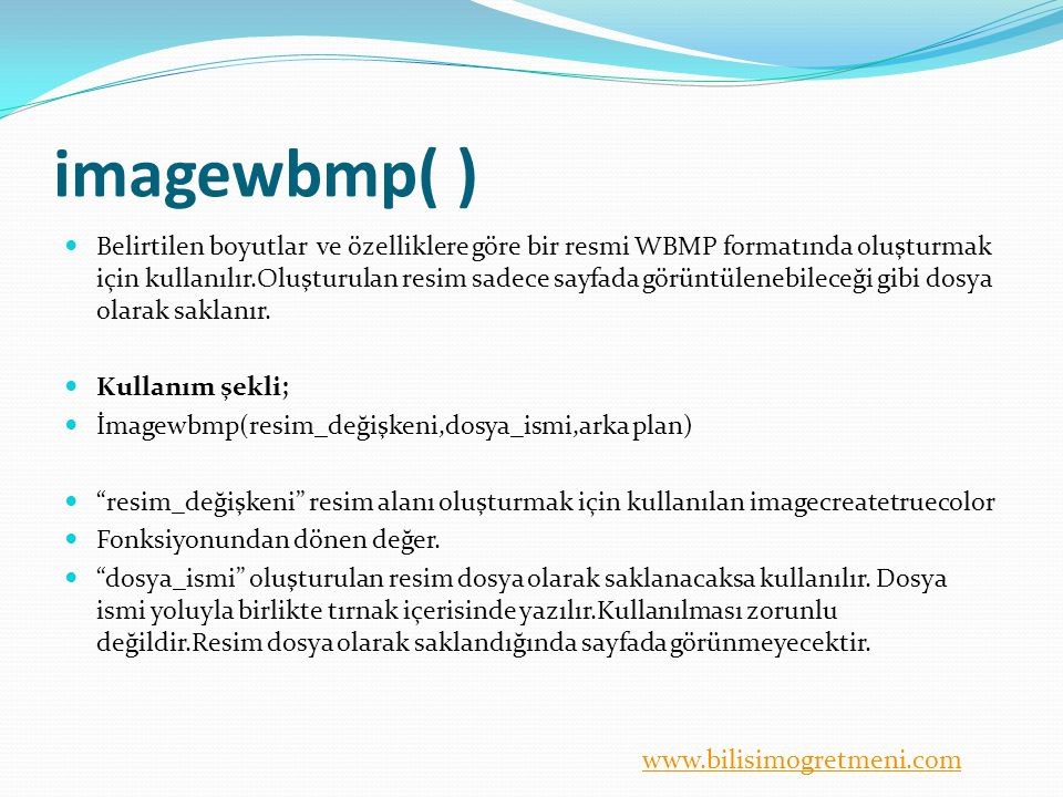 imagewbmp( )