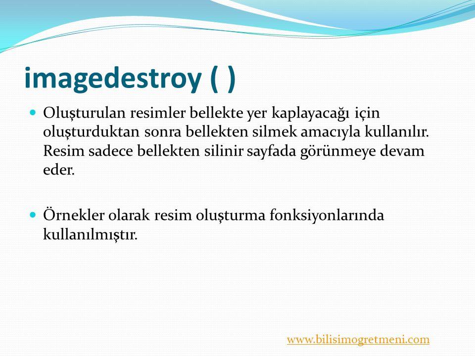 imagedestroy ( )