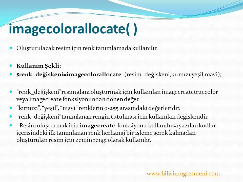 imagecolorallocate( )