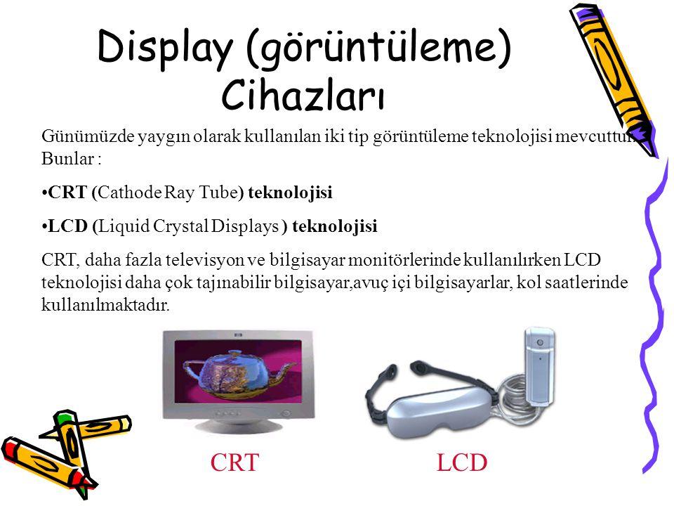 Display (görüntüleme) Cihazları