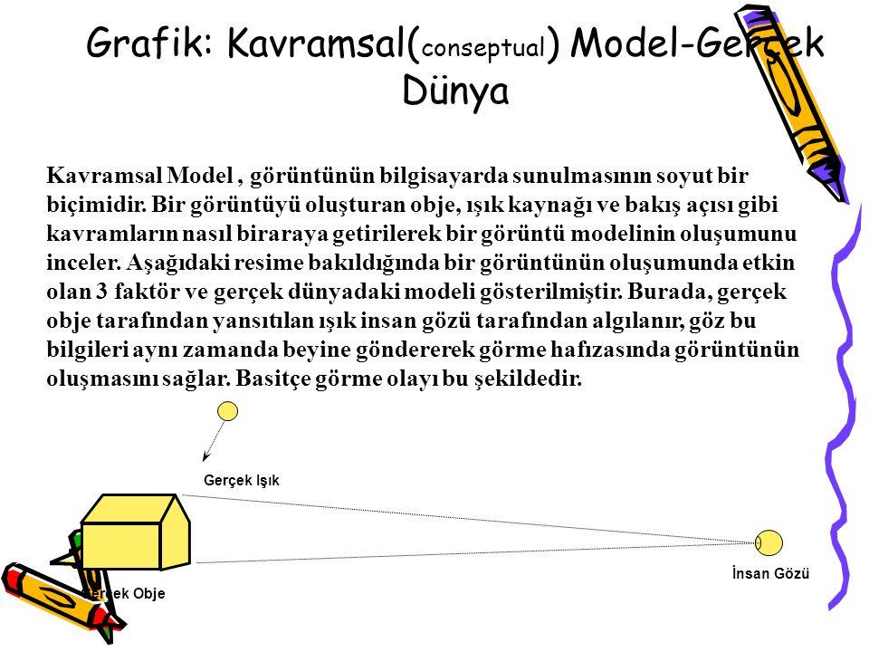 Grafik: Kavramsal(conseptual) Model-Gerçek Dünya