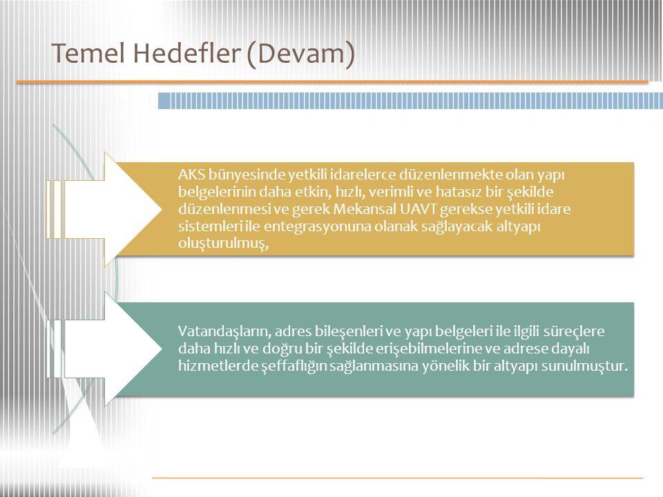 Temel Hedefler (Devam)