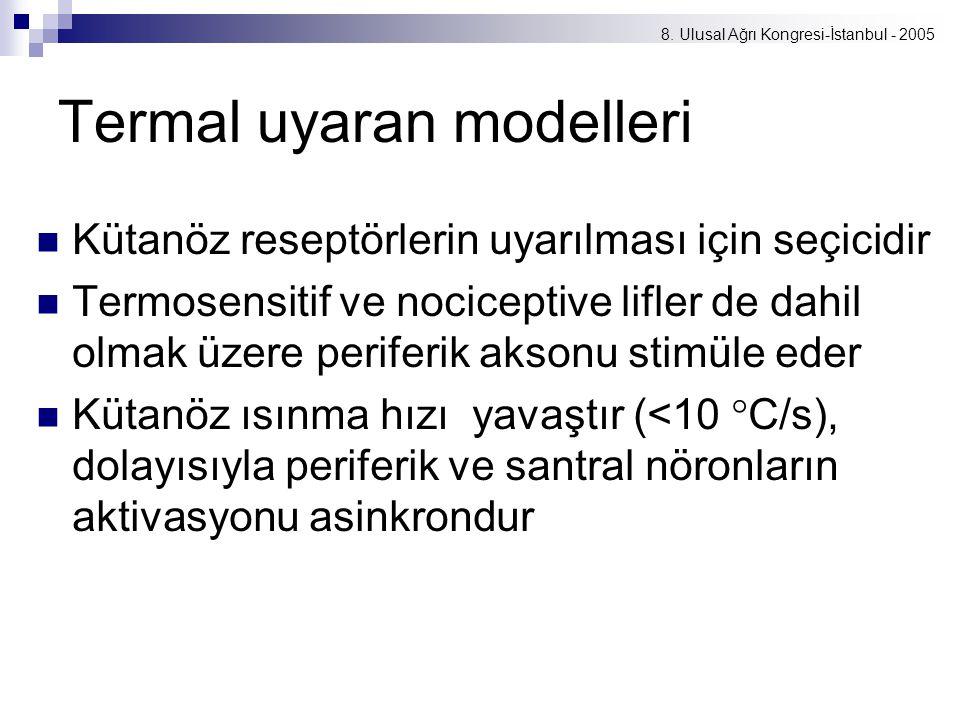 Termal uyaran modelleri
