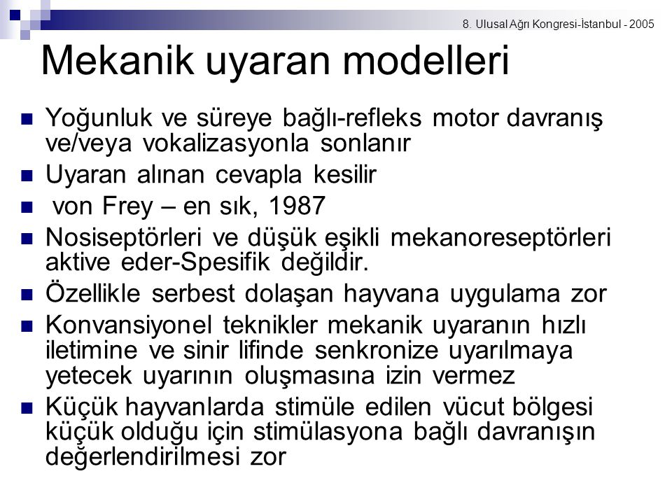 Mekanik uyaran modelleri
