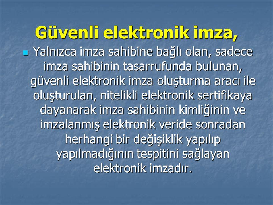 Güvenli elektronik imza,
