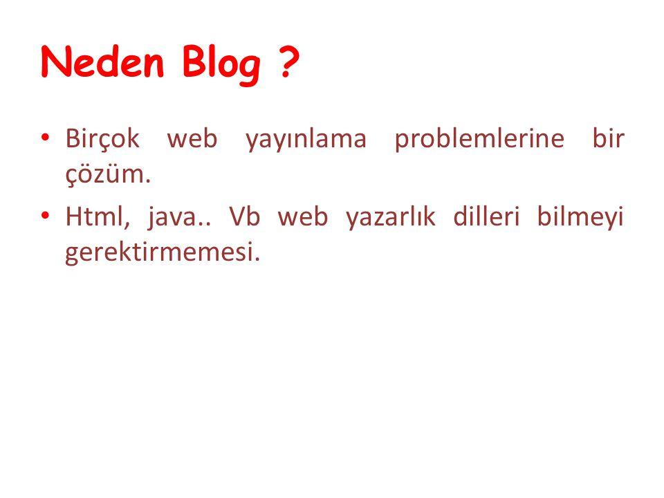 Neden Blog Birçok web yayınlama problemlerine bir çözüm.