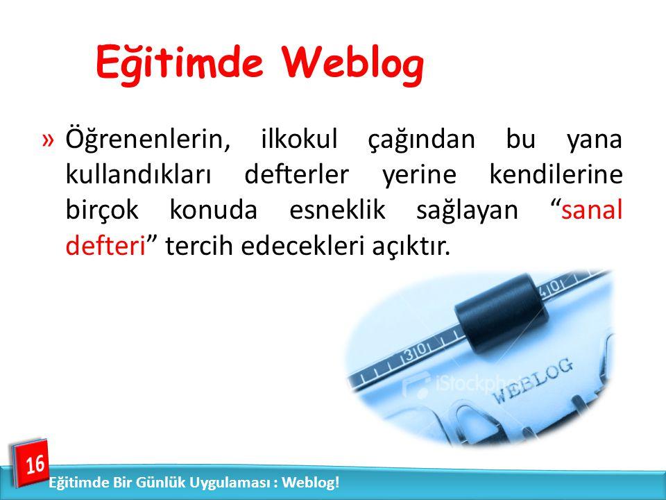 Eğitimde Weblog