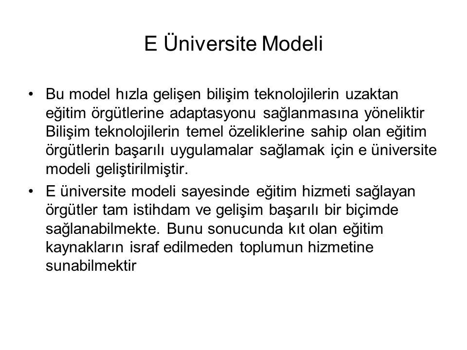 E Üniversite Modeli