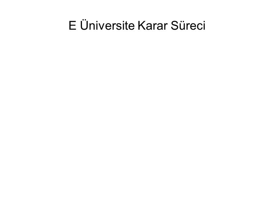 E Üniversite Karar Süreci