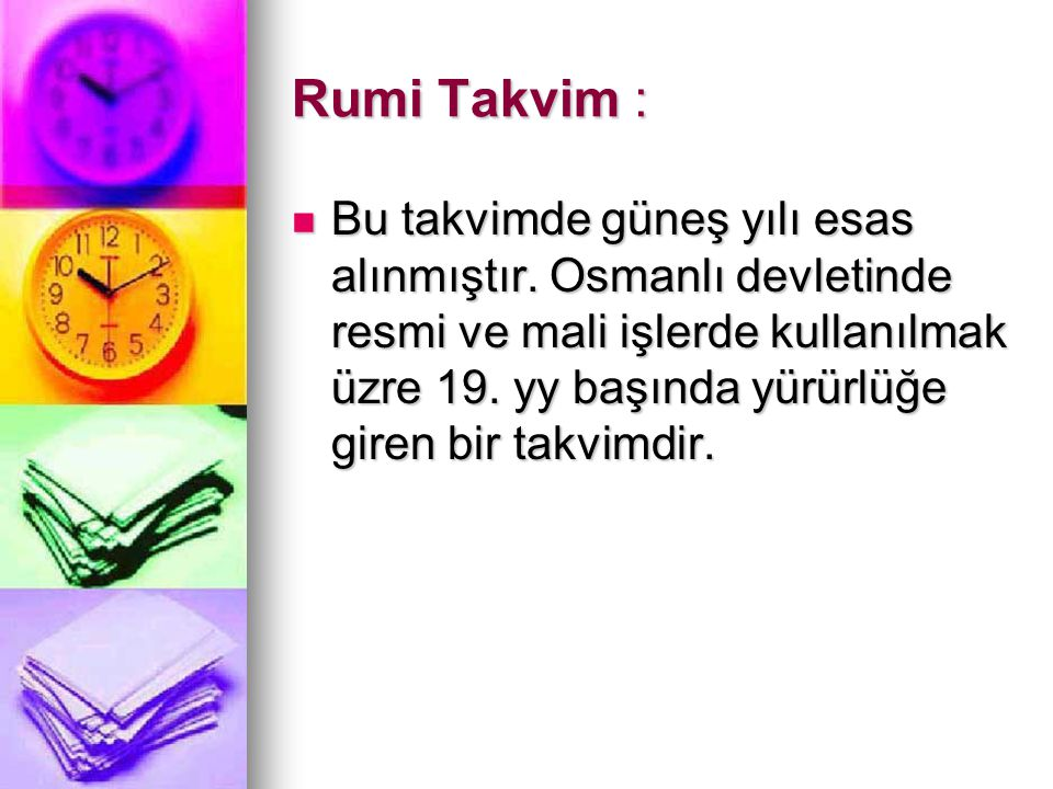 Rumi Takvim :